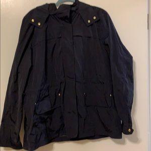Navy Gap Raincoat/Rain Jacket w/ Hood Size XXL